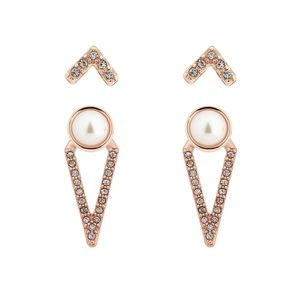 Chloe + Isabel Jewelry - Sparkling Rosé Convertible Earrings